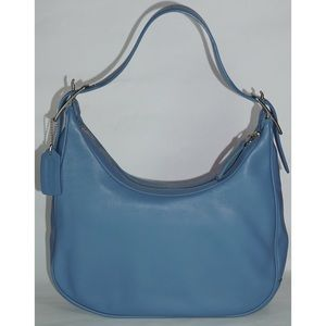 Coach Vintage Blue Leather Hobo Shoulder Bag